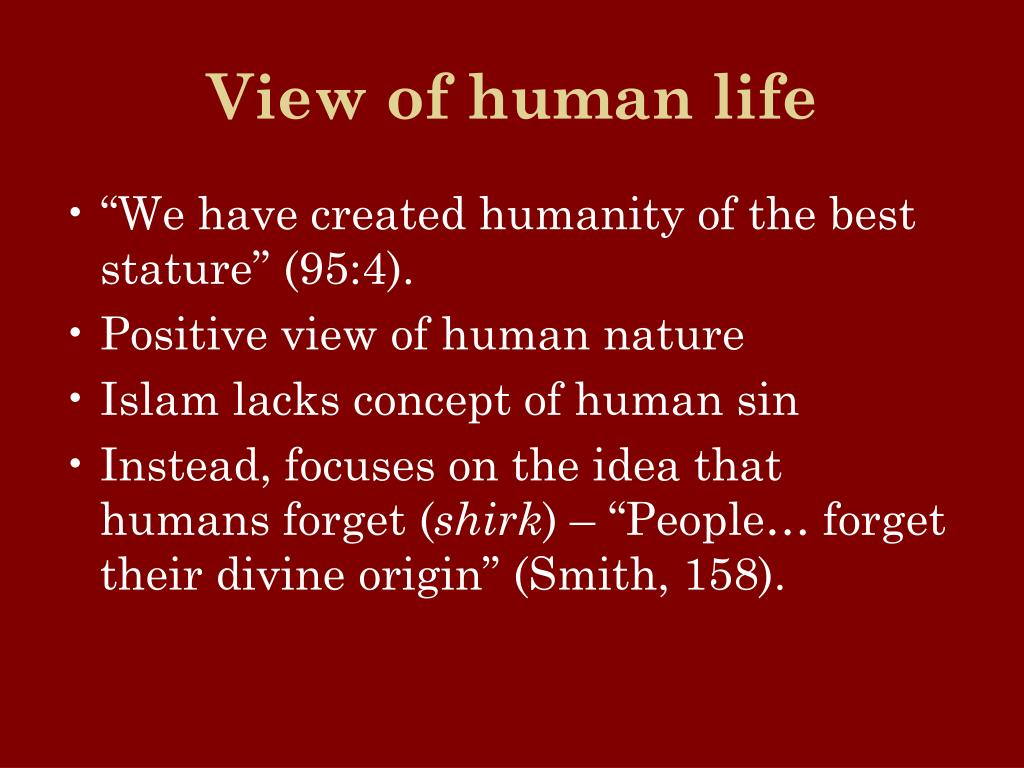 View of human life