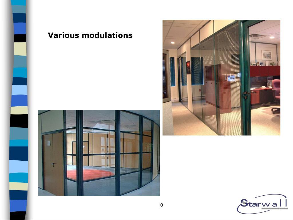 Various modulations