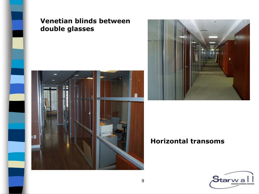 Venetian blinds between double glasses