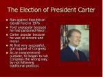 the election of president carter