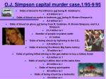 o j simpson capital murder case 1 95 9 95