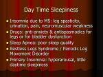day time sleepiness