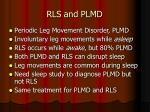 rls and plmd