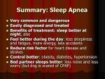 summary sleep apnea