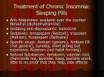 treatment of chronic insomnia sleeping pills