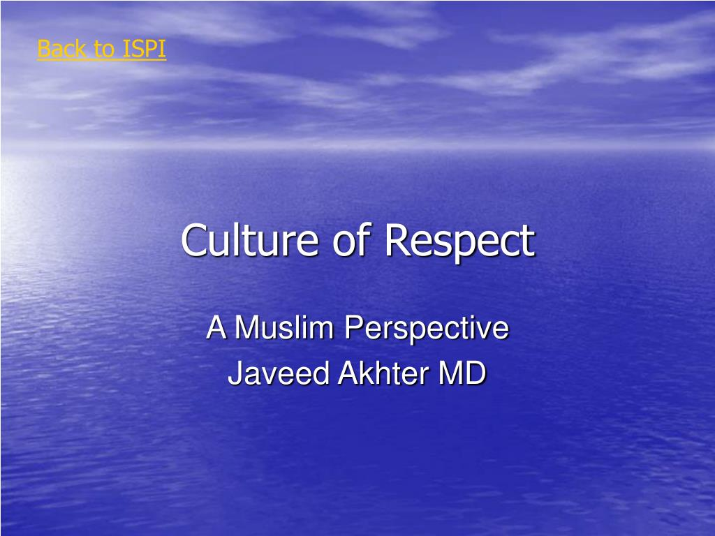 culture of respect l.