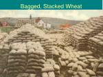 bagged stacked wheat