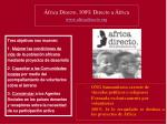 frica directo 100 directo a frica www africadirecto org