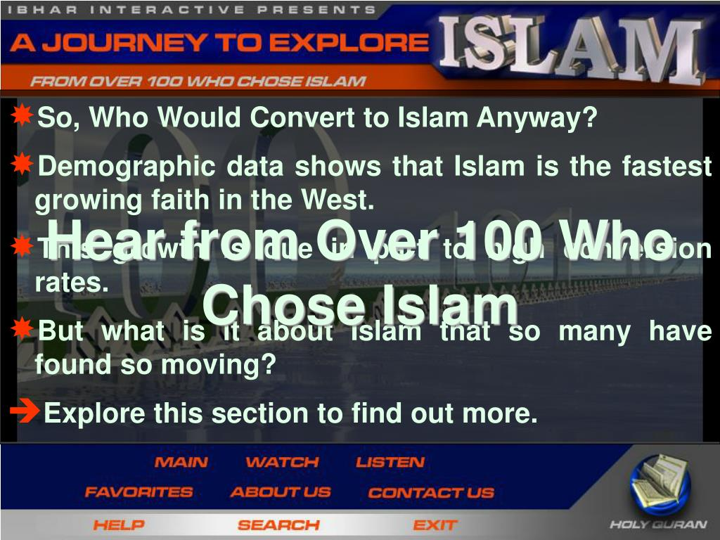 So, Who Would Convert to Islam Anyway?