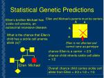 statistical genetic predictions