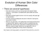 evolution of human skin color differences