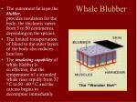whale blubber