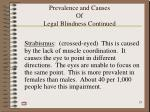 prevalence and causes of legal blindness continued23