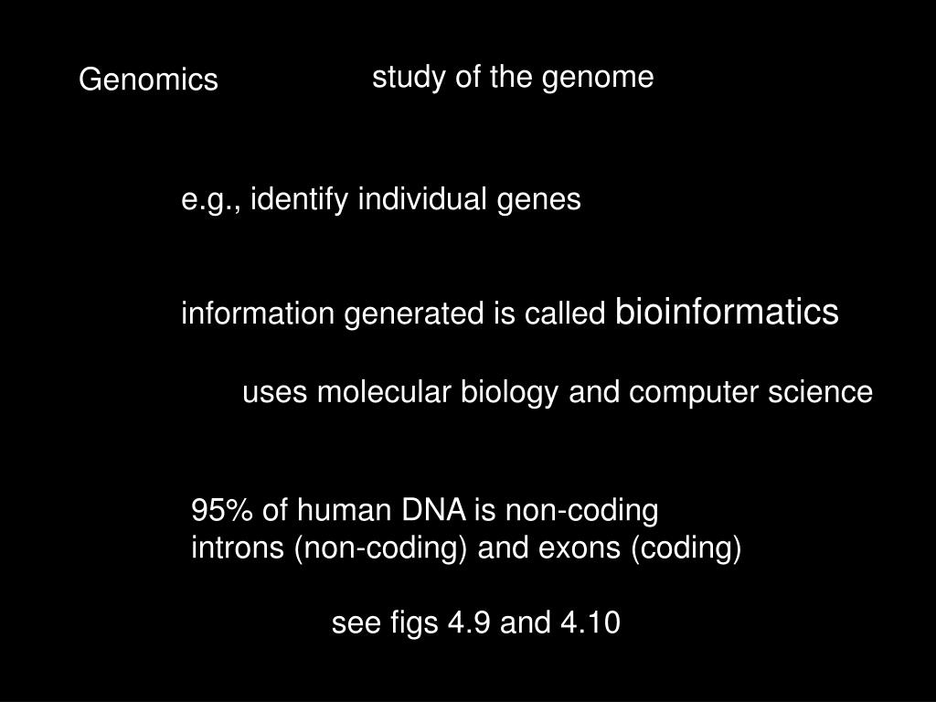 study of the genome