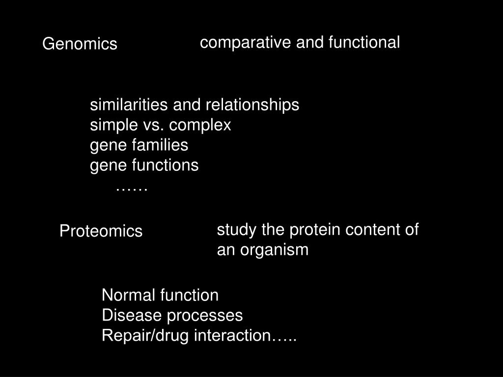 comparative and functional