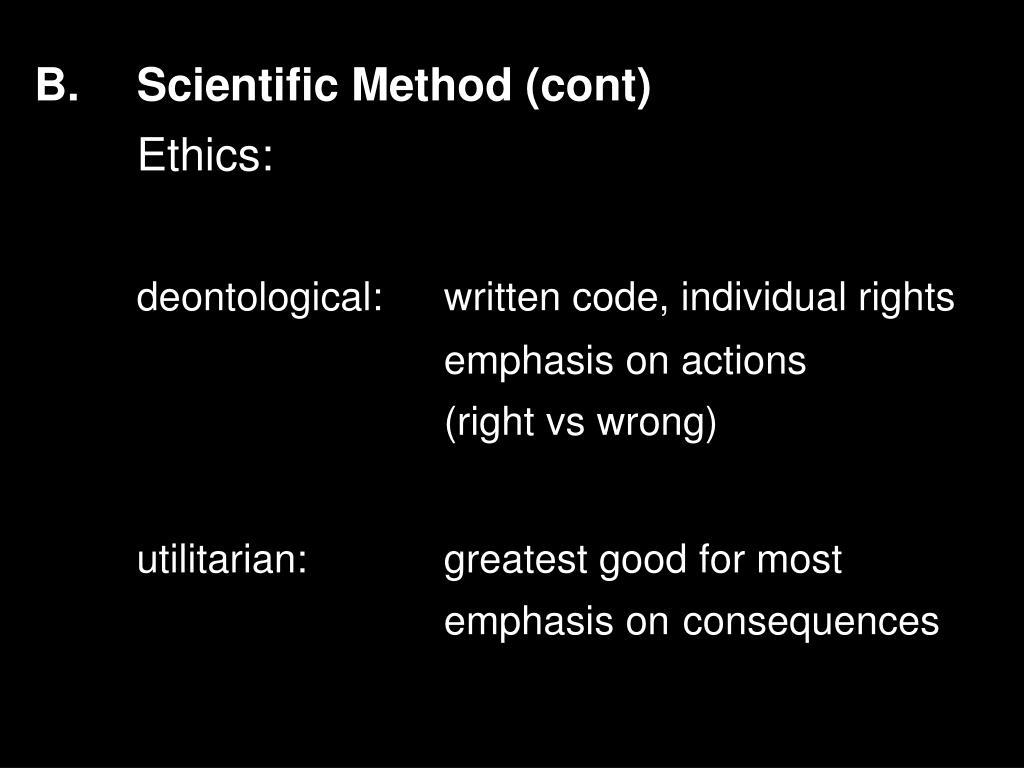 B.Scientific Method (cont)