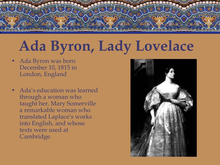 Ada byron lady lovelace