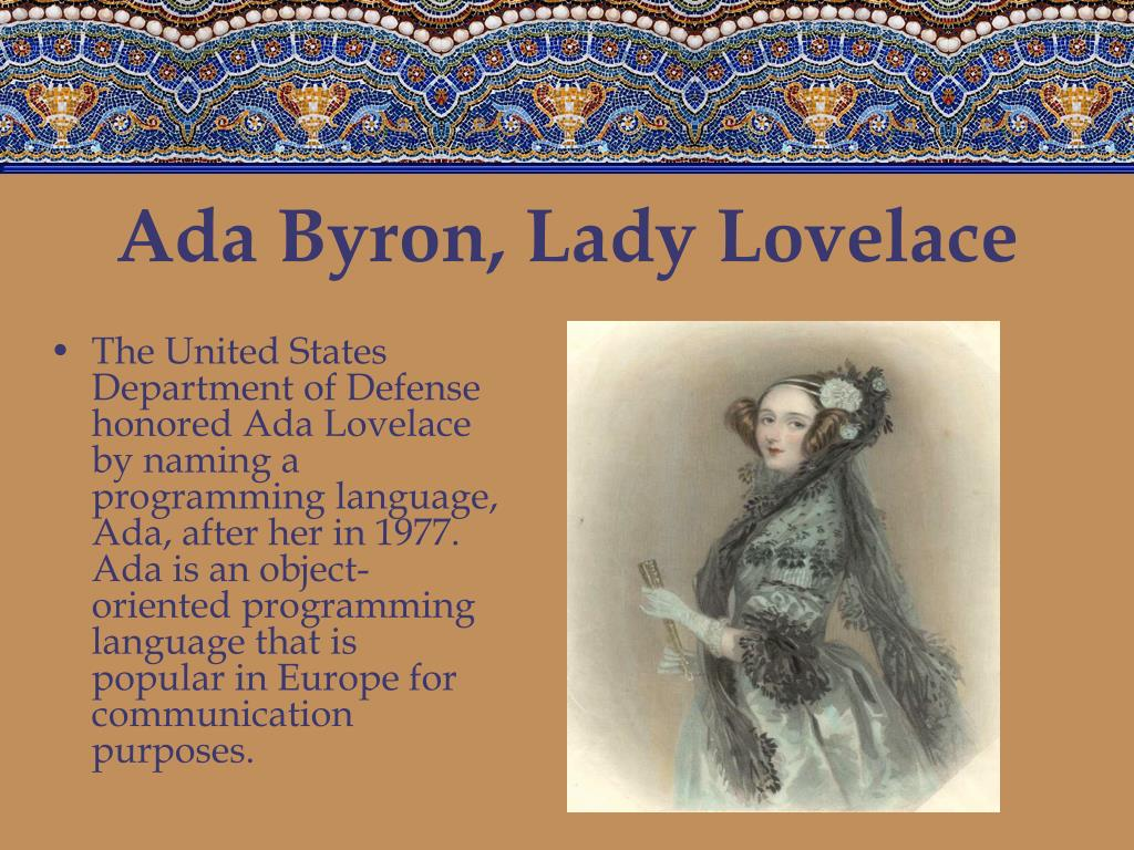 Ada Byron, Lady Lovelace