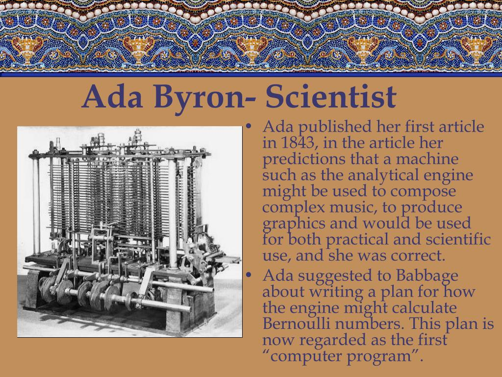 Ada Byron- Scientist