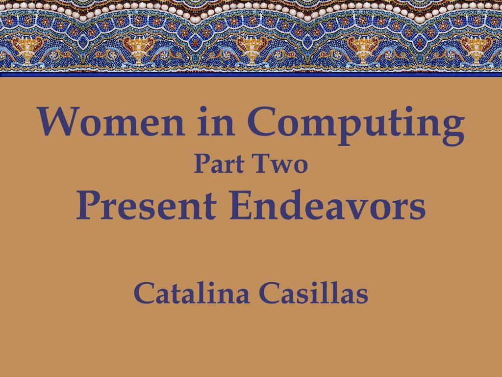 Women in Computing