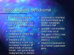 peutz jeghers syndrome