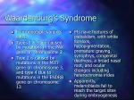 waardenburg s syndrome
