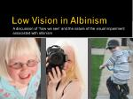 low vision in albinism
