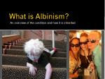 what is albinism