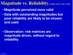 magnitude vs reliability griffin and tversky 1992