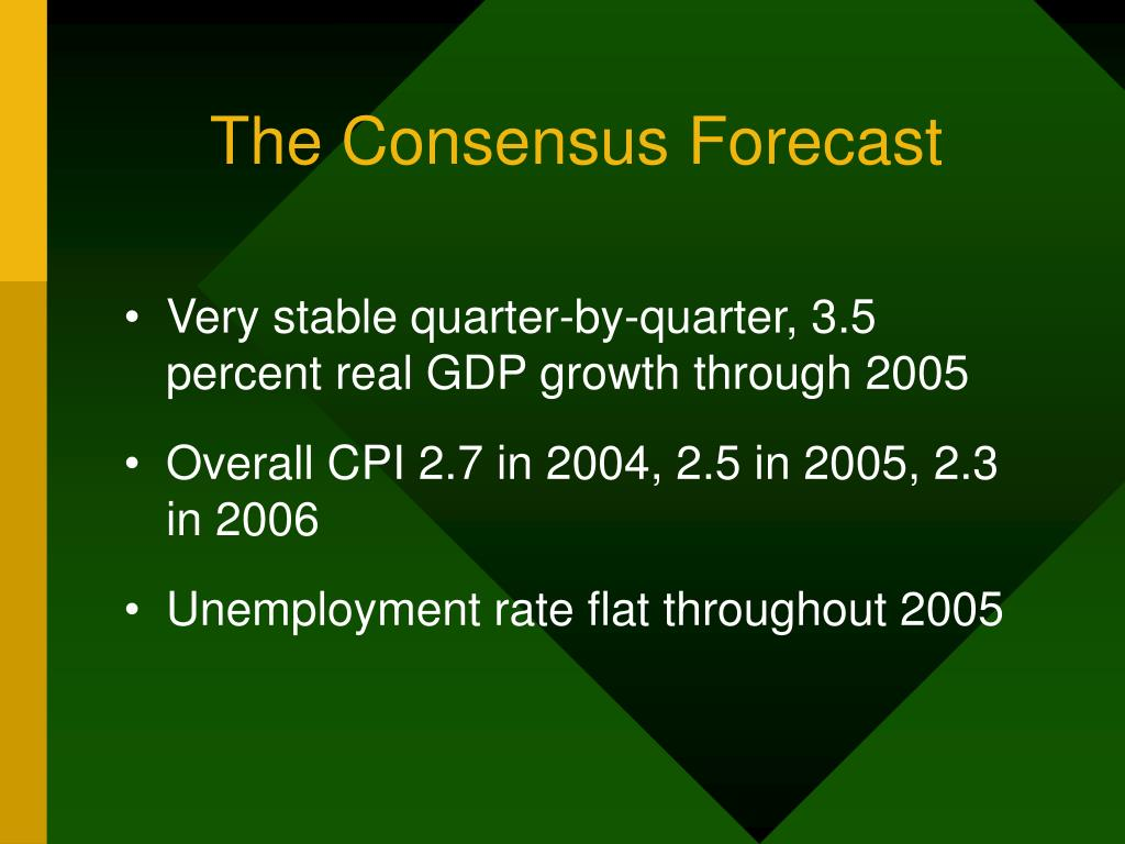 The Consensus Forecast