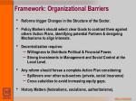 framework organizational barriers