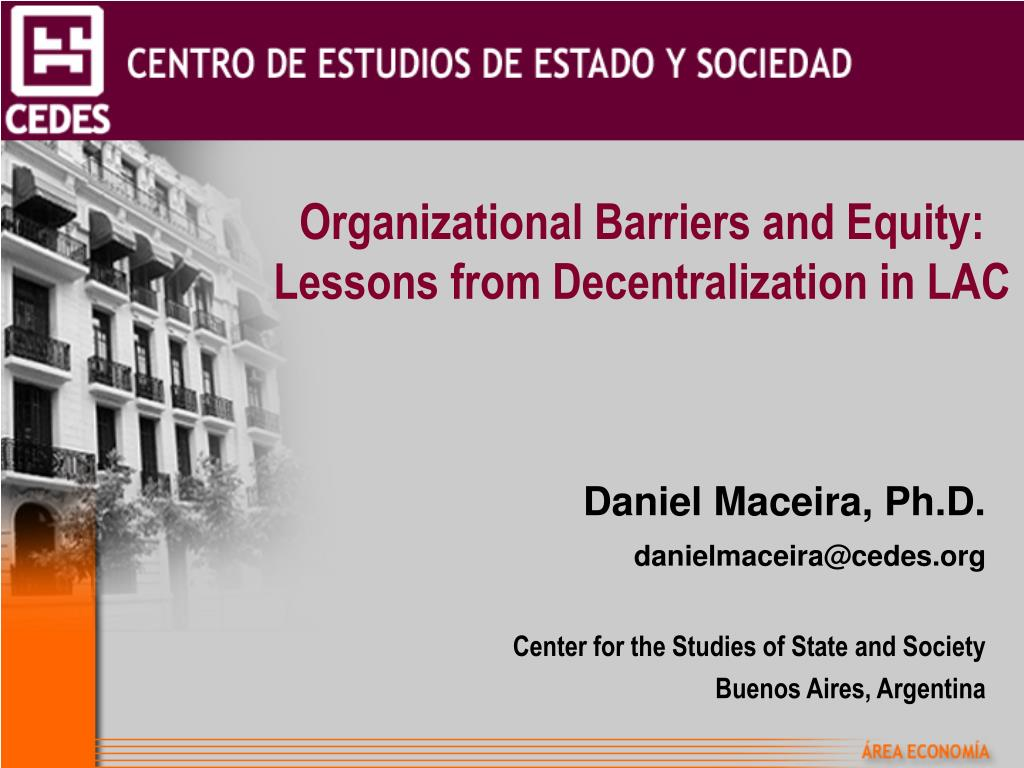 organizational barriers and equity lessons from decentralization in lac l.
