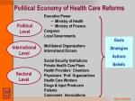 political economy of health care reforms