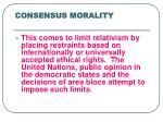 consensus morality