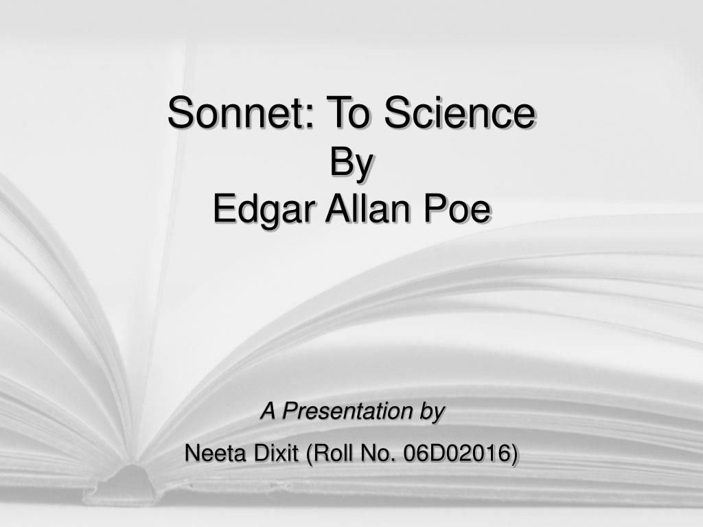 poe sonnet to science