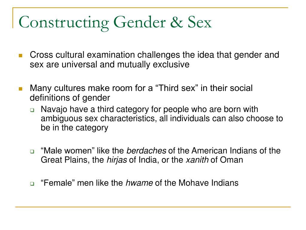 Constructing Gender & Sex
