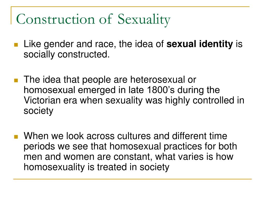 Construction of Sexuality