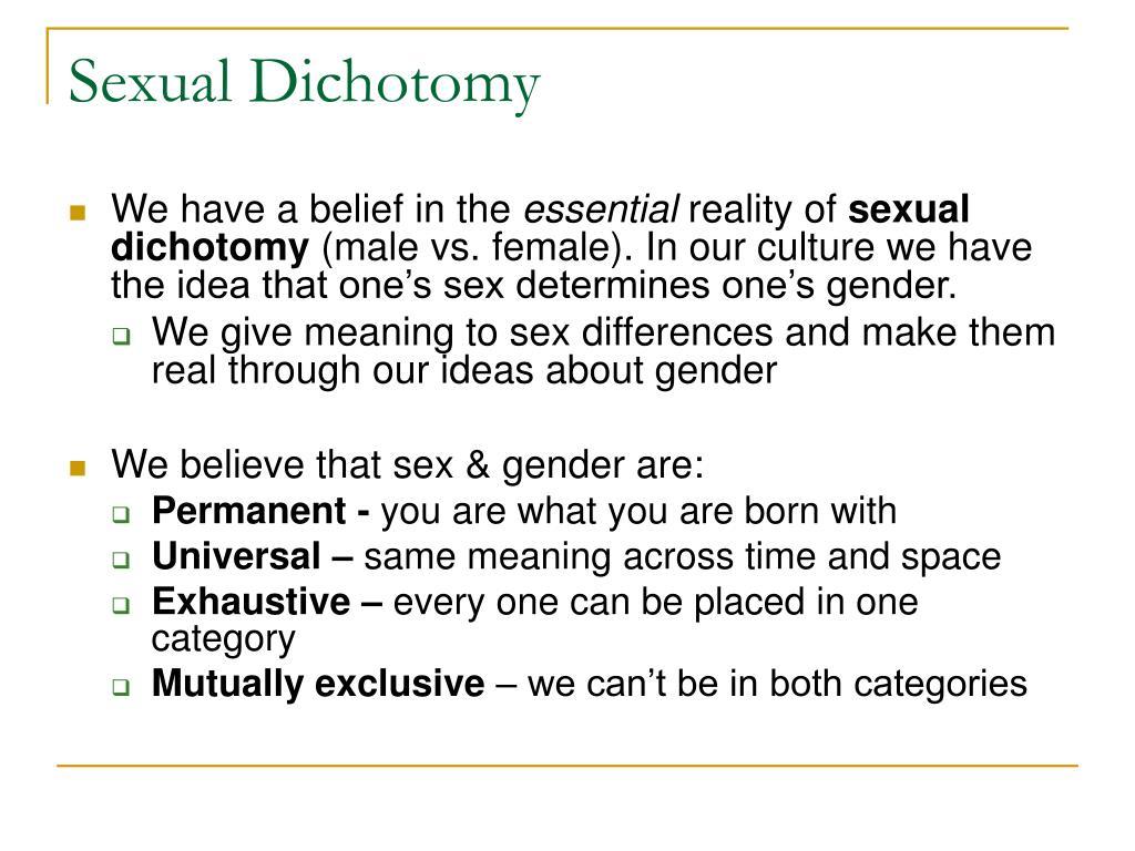 Sexual Dichotomy