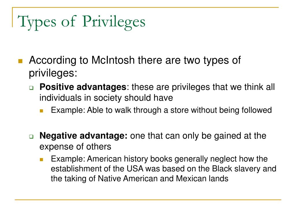 Types of Privileges