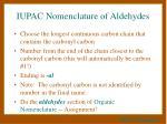 iupac nomenclature of aldehydes
