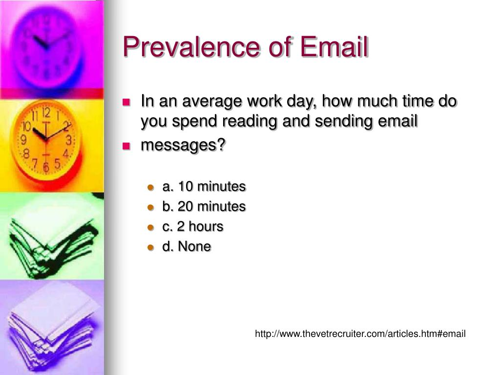Prevalence of Email