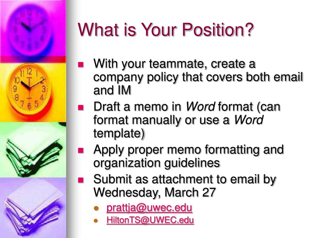 What is Your Position?