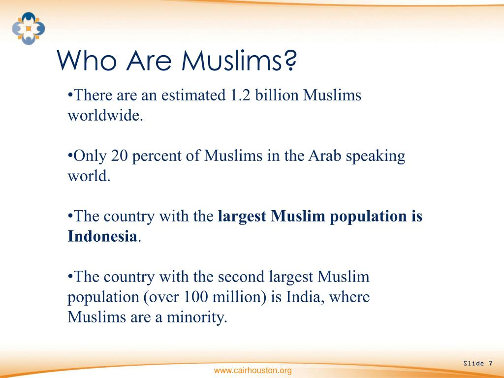 Who Are Muslims?