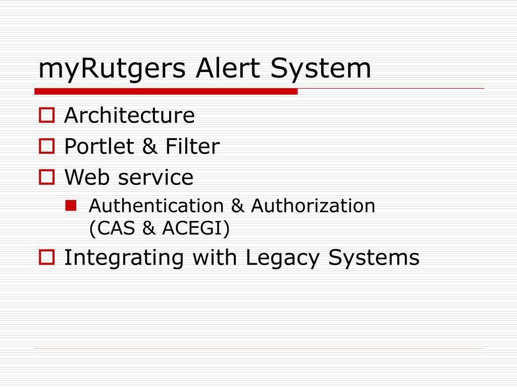 myRutgers Alert System
