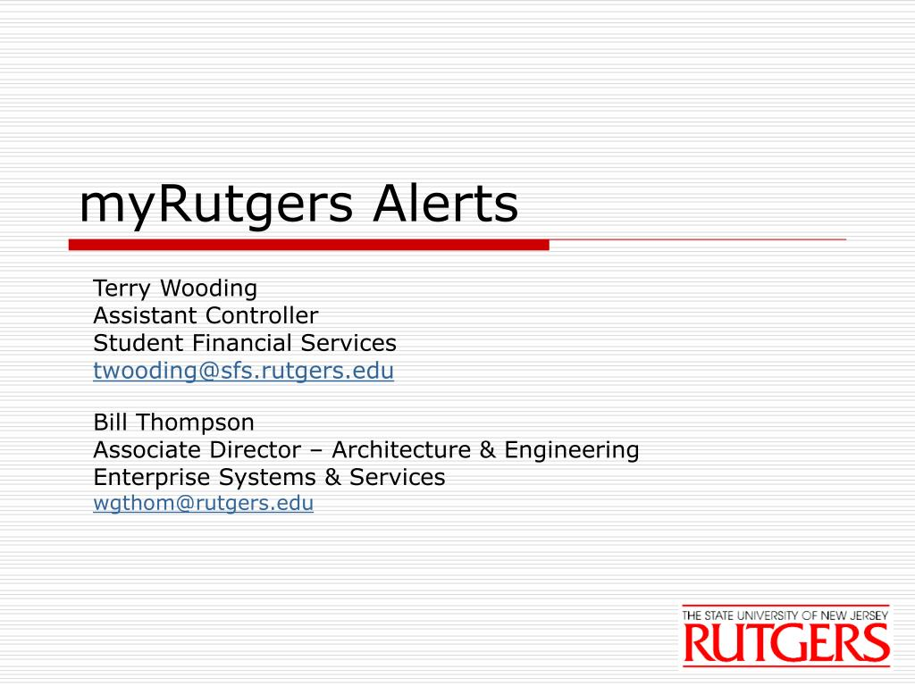 myRutgers Alerts
