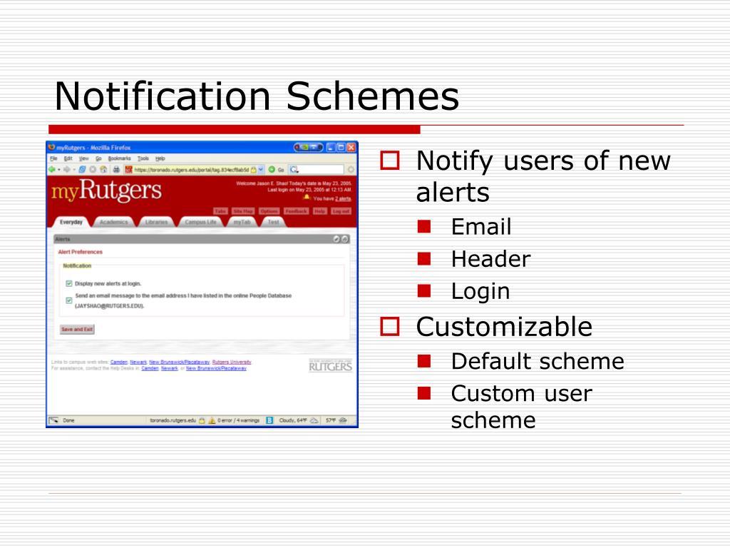 Notification Schemes
