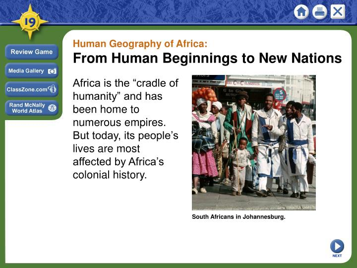 Human Geography of Africa: