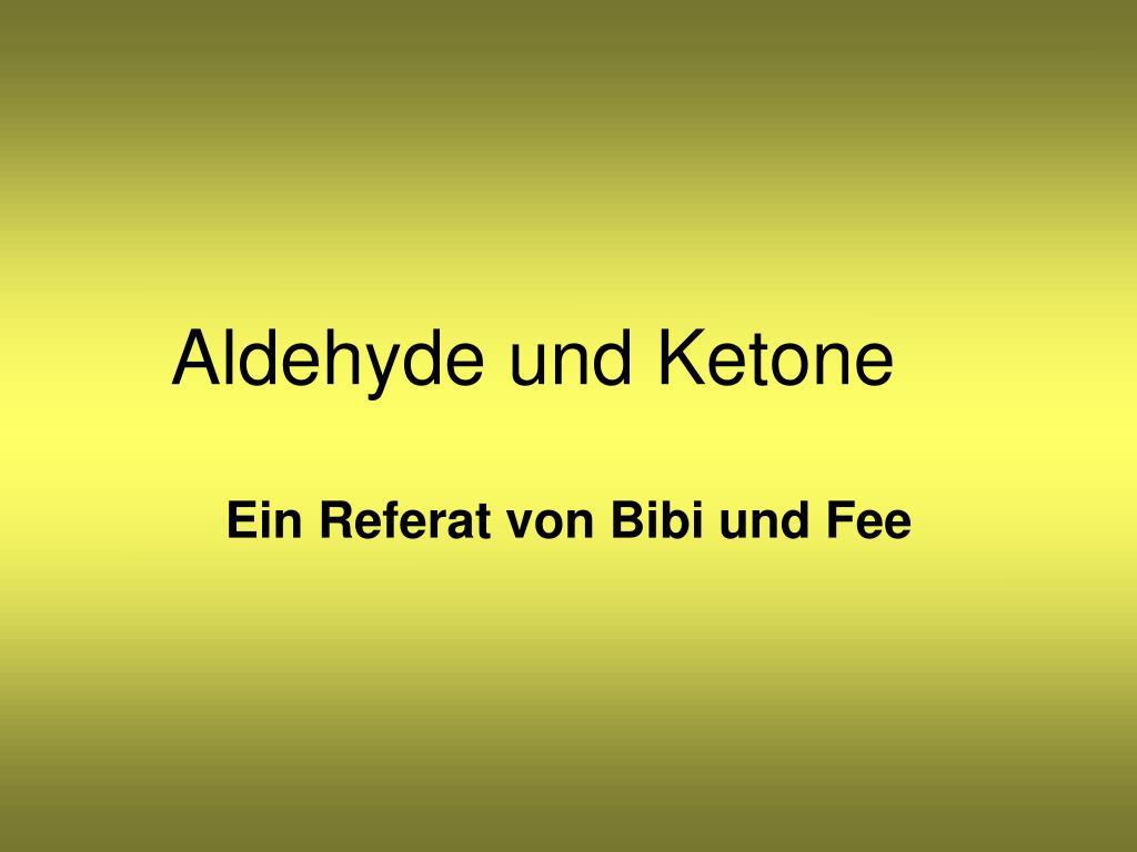 aldehyde und ketone l.