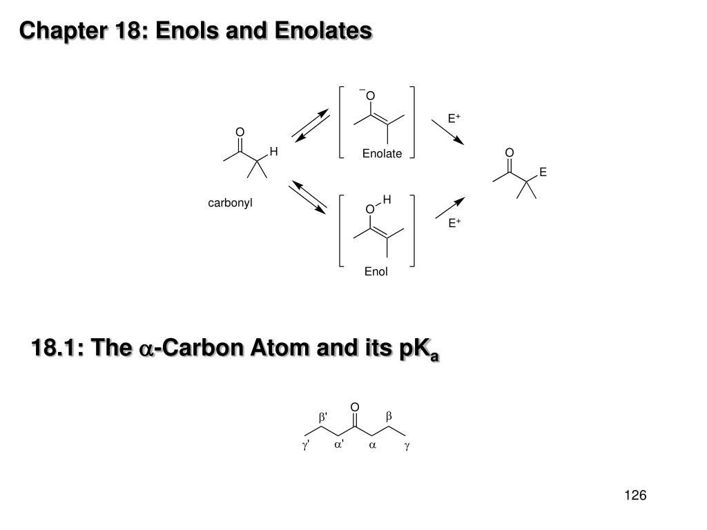 Chapter 18: Enols and Enolates