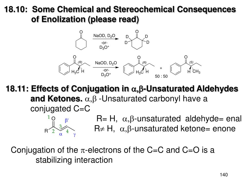 18.10:  Some Chemical and Stereochemical Consequences